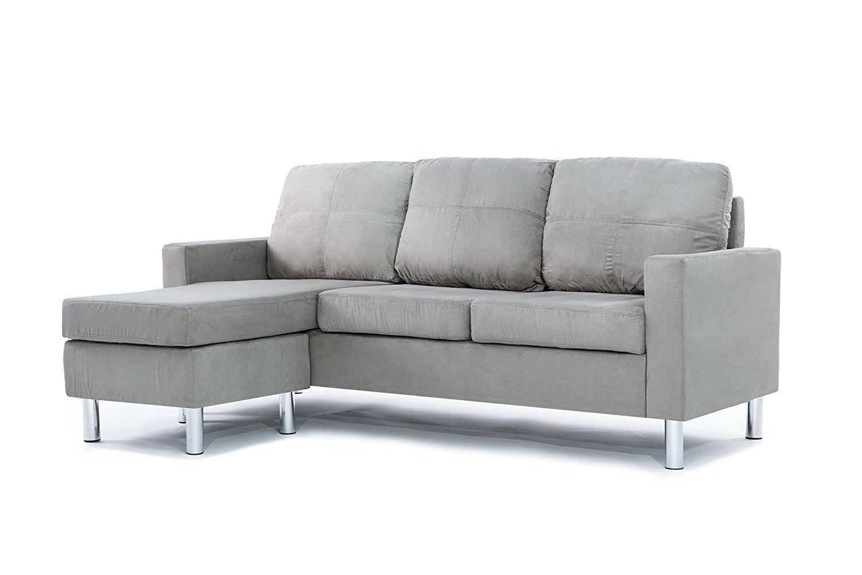 Divano Roma Microfiber Sectional Sofa Sofas for small