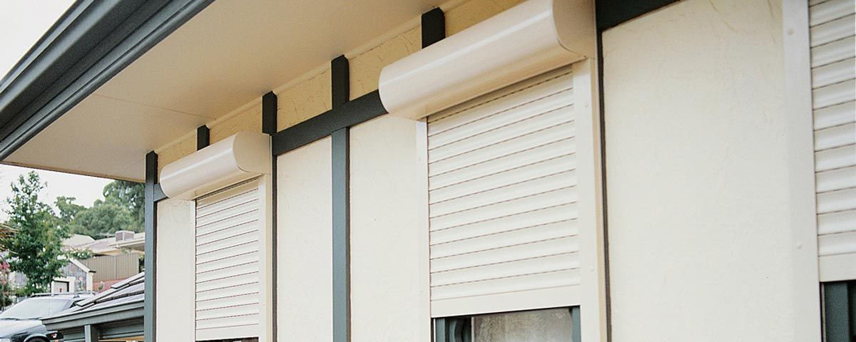Electric window shutters exterior