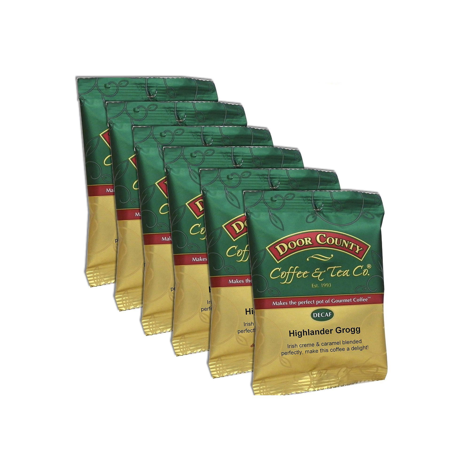 Door County Coffee Decaf Highlander Grogg Ground Coffee 6