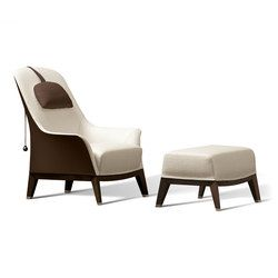Normal Wing Chair With Footrest Lounge Chairs Giorgetti Armchair Furniture Furniture Chair Design