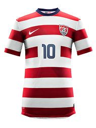 dde94a4997fab Love it or hate it... You can't ignore it. New Nike US jersey making a  horizontal striped splash.