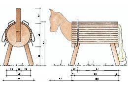 bauzeichnung holzpferd pferdesachen. Black Bedroom Furniture Sets. Home Design Ideas