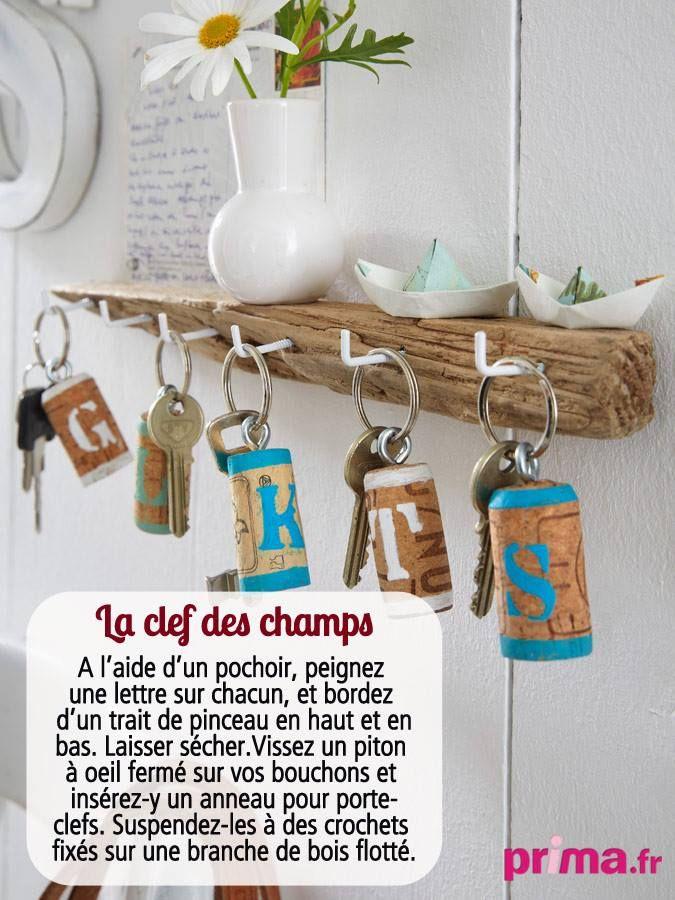 Porte clefs supers sympas avec des bouchons en li ge prima mag fr petite maison de vacances - Fabriquer un porte clef ...