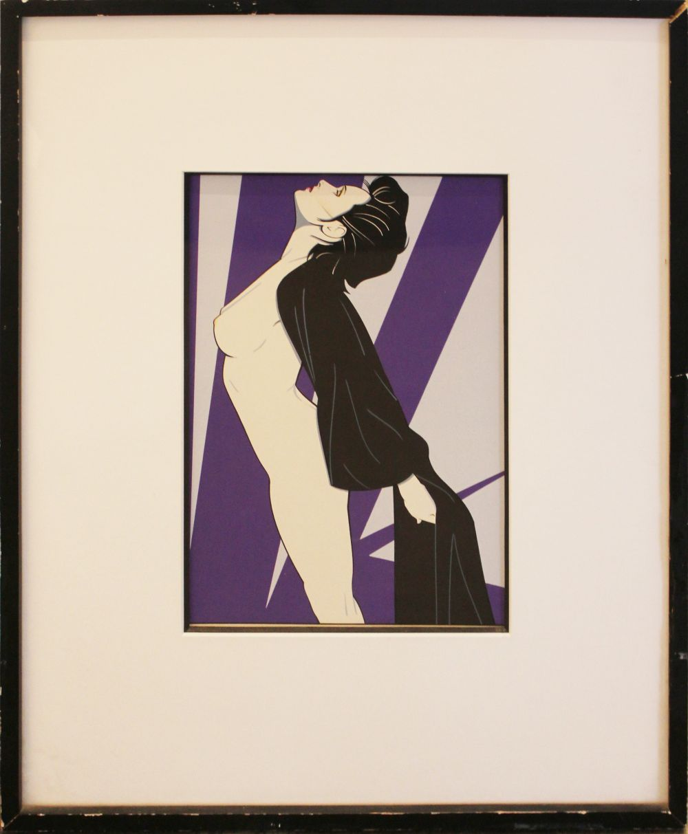 PATRICK NAGEL, Untitled (Nude in Robe), c. 1983