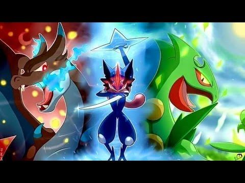 image result for mega blaziken with ash greninja and sceptile