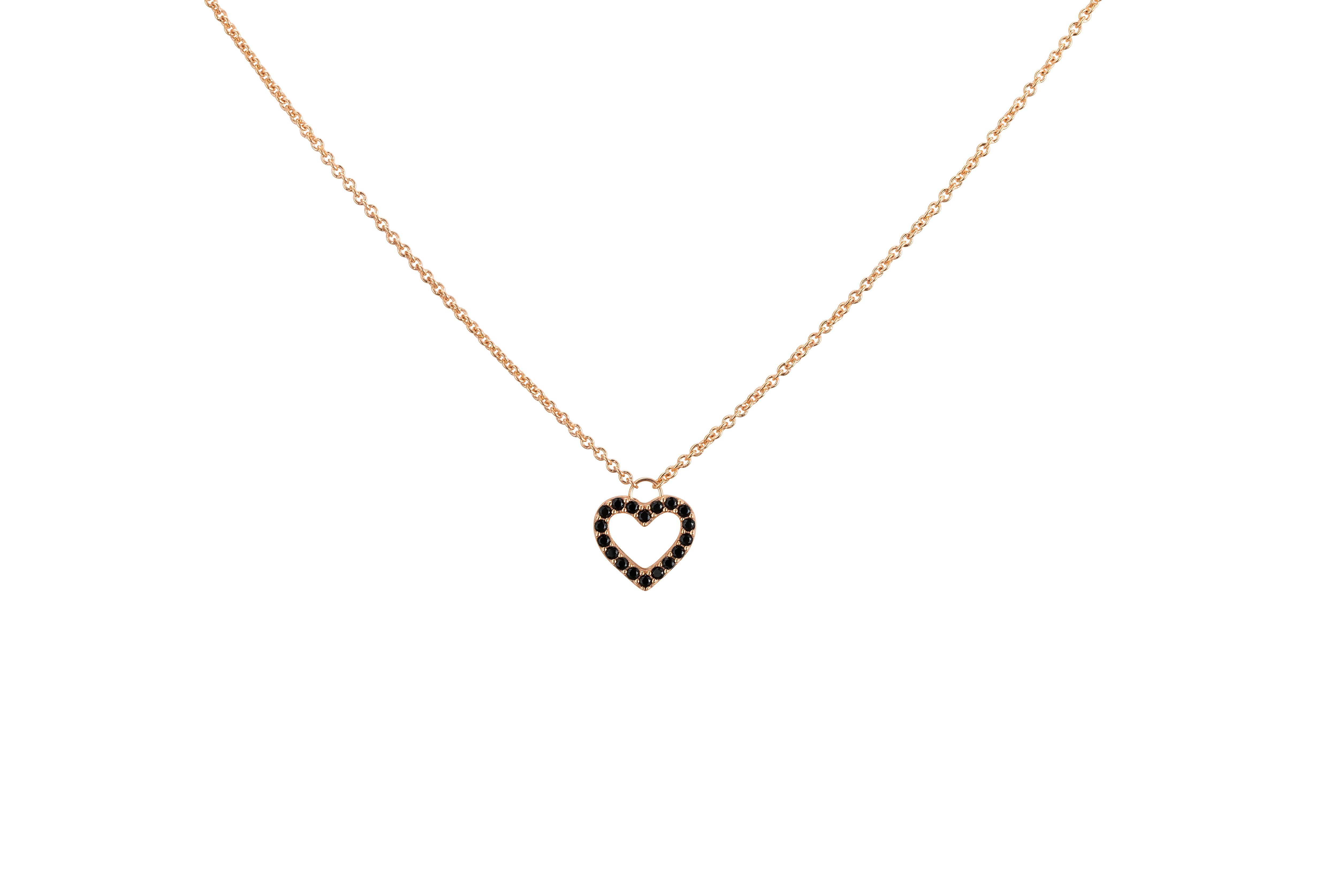 Heart necklace rose gold rose gold jewelry