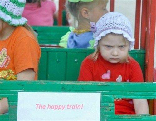 Definitely NOT the happy train...