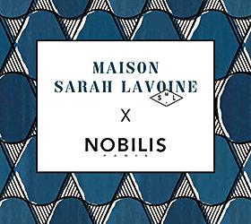 Collaboration Entre L Editeur Nobilis Et La Maison Sarah Lavoine La Collection Apostrophe Chez Au Fil Des Matiere Papier Peint Deco Papier Peint Sarah Lavoine