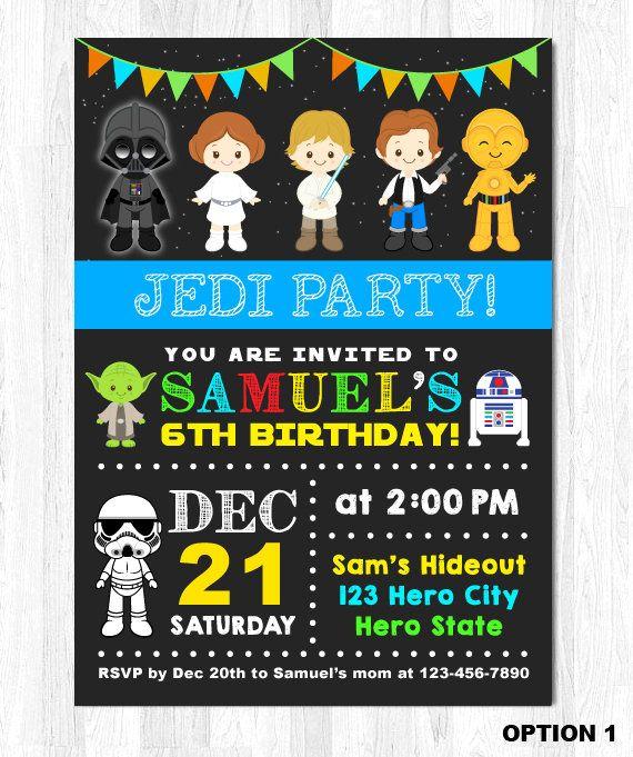 Star Wars Invitation Star Wars Birthday Invitation Star Wars Party