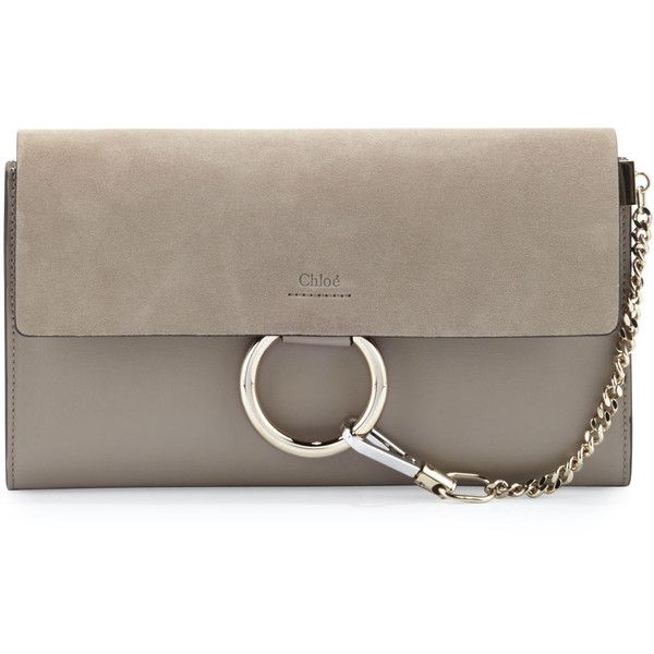 finest fabrics hot-selling discount clients first Chloe Faye Leather & Suede Clutch Bag ($955) ❤ liked on ...