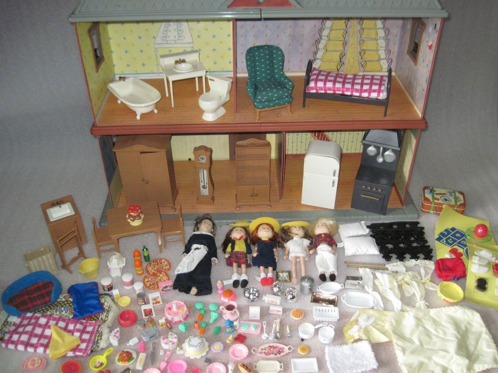 Charming Eden Madeline Doll House W/ Furniture 5 Dolls Clothes 100 + Accessories  Loaded #HousesFurniture