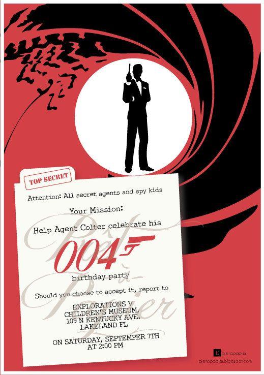 James Bond Invitations Amazing Invitation Template Design By