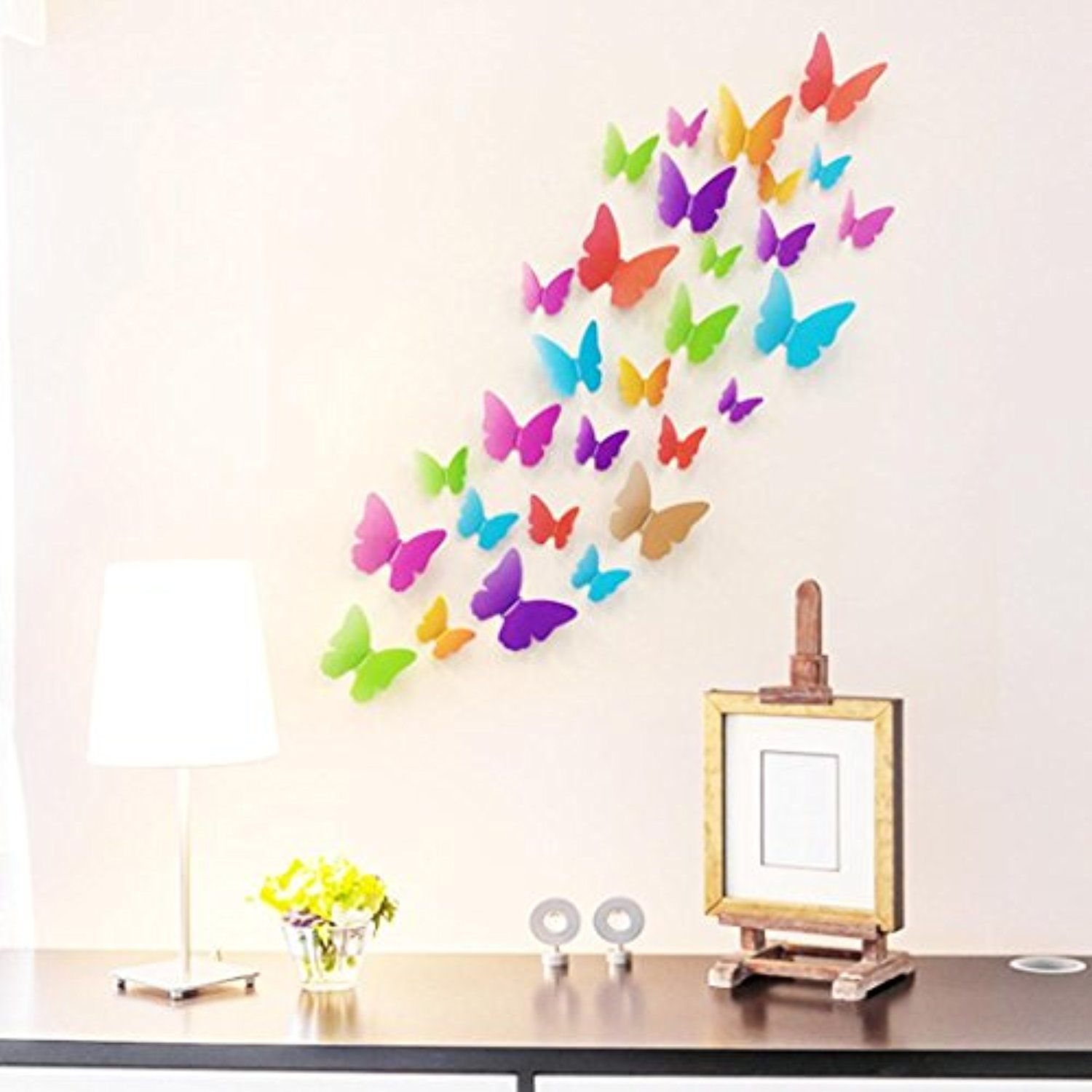 Lovely Wall Sticker Butterfly Home Decoration Accessories Butterfly Wall  Decor Bedroom Decorations Papel For Live Room