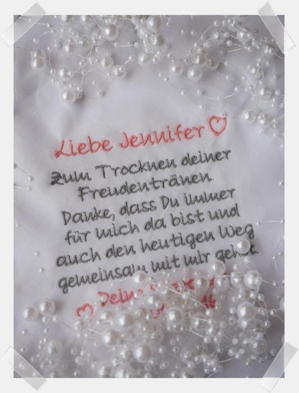Stofftaschentuch bestickt Trauzeugein in 2019  Hochzeit  Taschentcher hochzeit