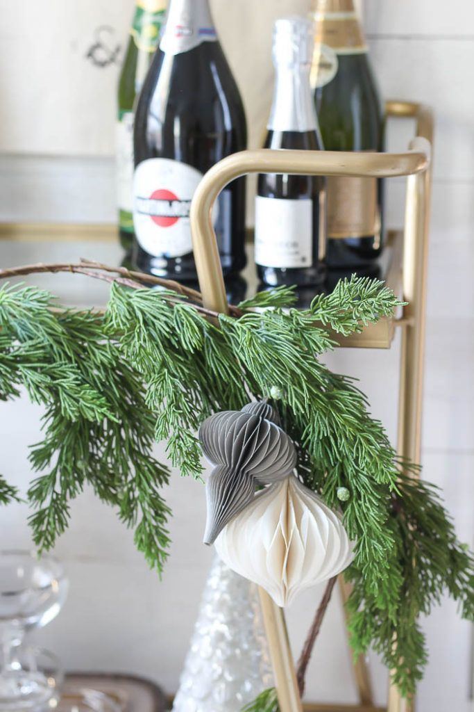 Styling a New Years Eve Bar Cart | Handmade home, Ball ...
