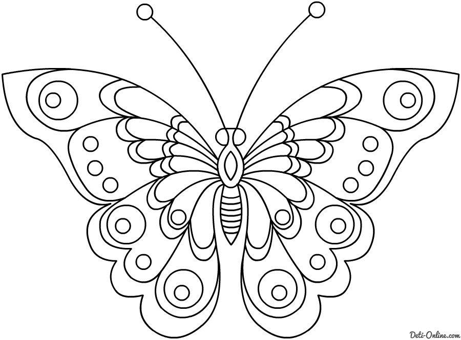 Dibujos De Mariposas Para Colorear Para Niños Mariposas