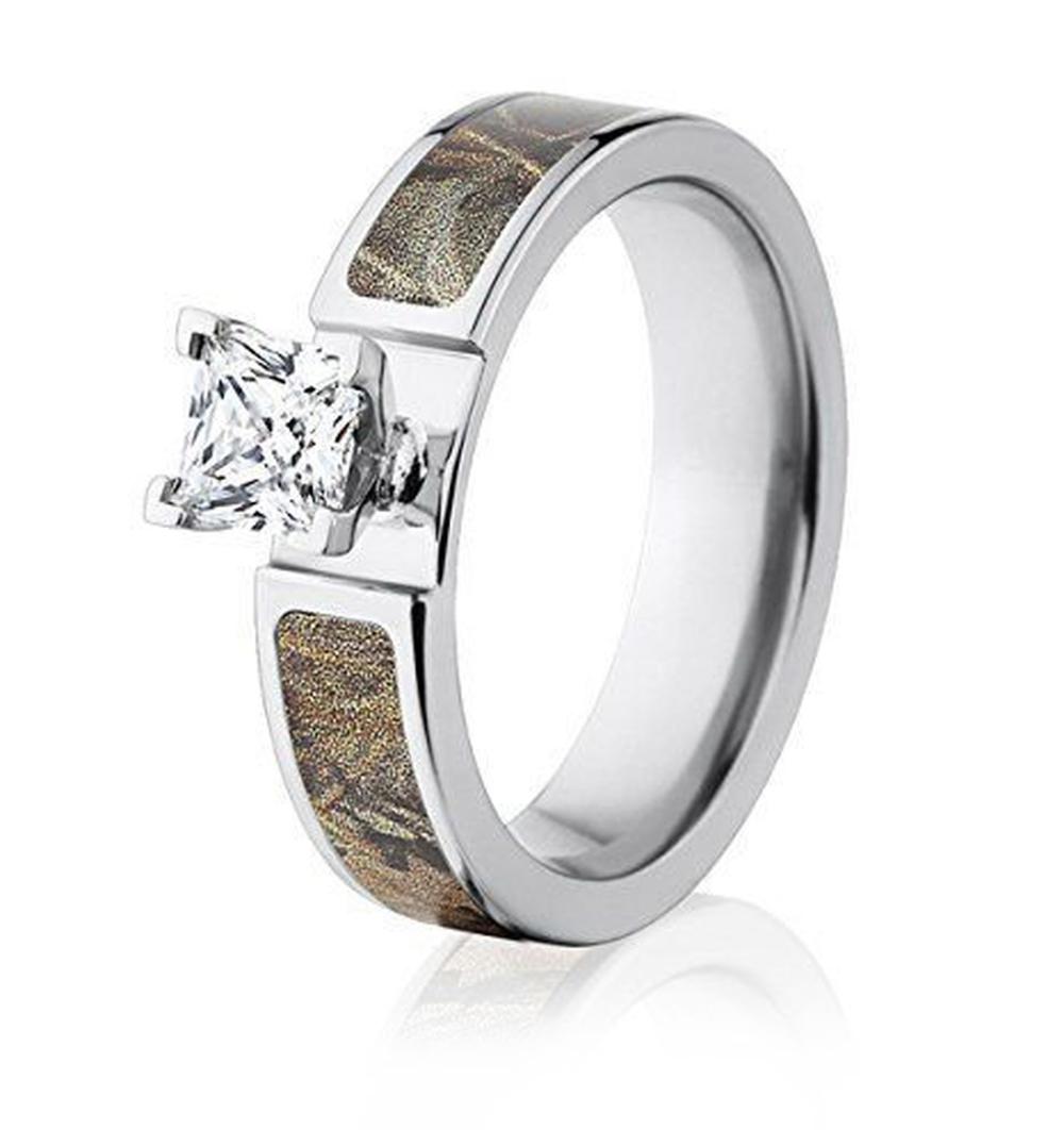 Realtree Max 4 Camo Engagement Ring 1CT 6mm Camo