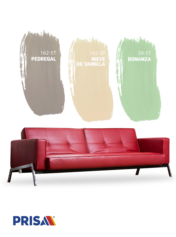 Tienes Un Sofa Rojo Combinalo Con Estos Colores Decoracion Con Sofa Rojo Colores De Pintura De Interior Muebles Rojo