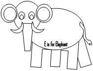 Printable Elephant Cut and Paste Project. Cut and Paste