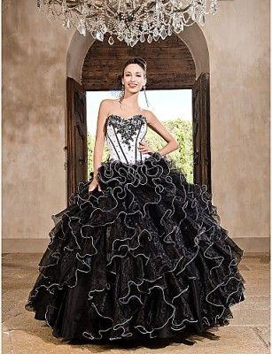 2979fda7c vestidos de xv años negros pomposo