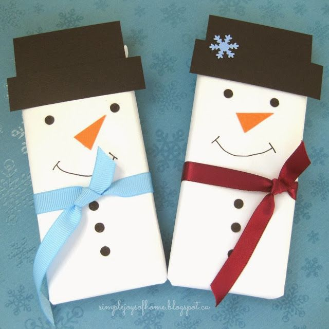 Snowman Chocolate Bar