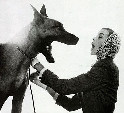 Veronica Compton With Bruno Photographed By Richard Avedon Dog