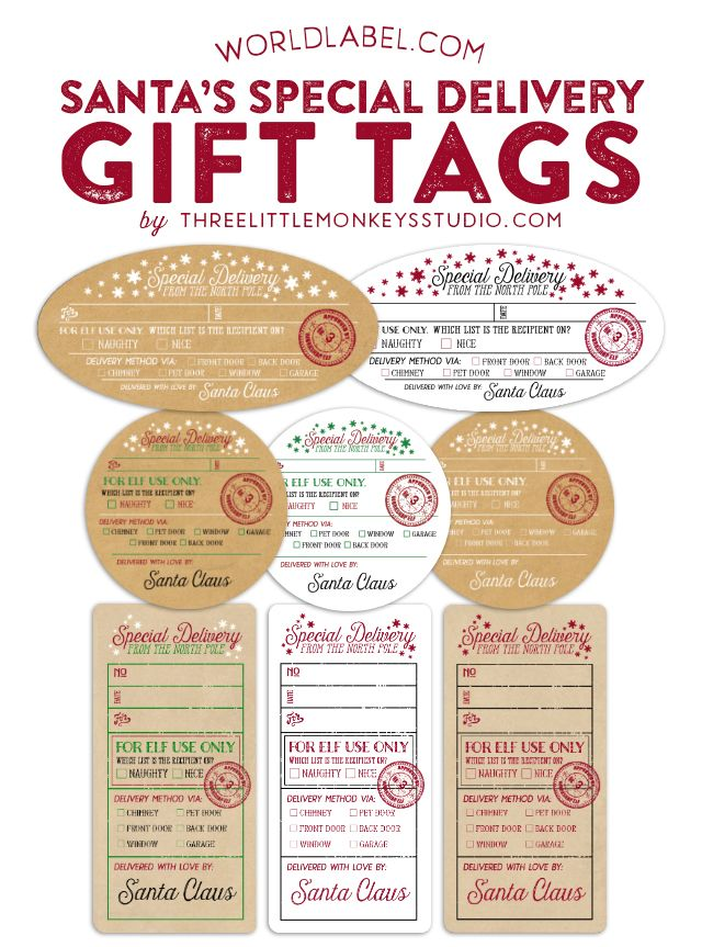Free personalized Santa's Special Delivery Printable Gift Tags ...