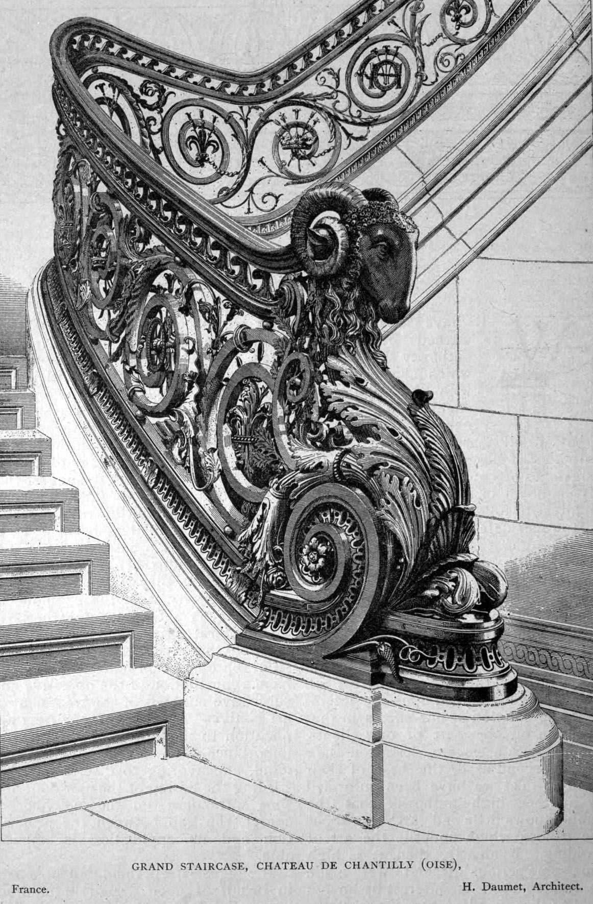 Design For The Grand Staircase Of The Ch Teau De