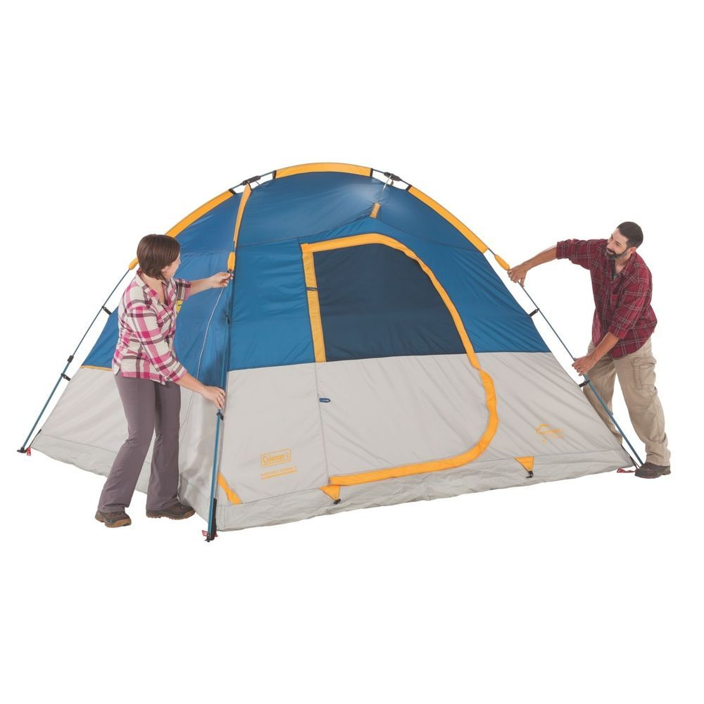 Coleman Flatiron 3 Person Instant Tent Pre-Attached poles set up in 1 Minute #Coleman #Dome  sc 1 st  Pinterest & Details about Coleman Flatiron 3 Person Instant Tent Pre-Attached ...