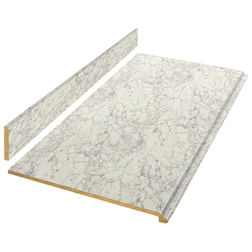 Hampton Bay 4 ft. Laminate Countertop Kit in Marmo Bianco