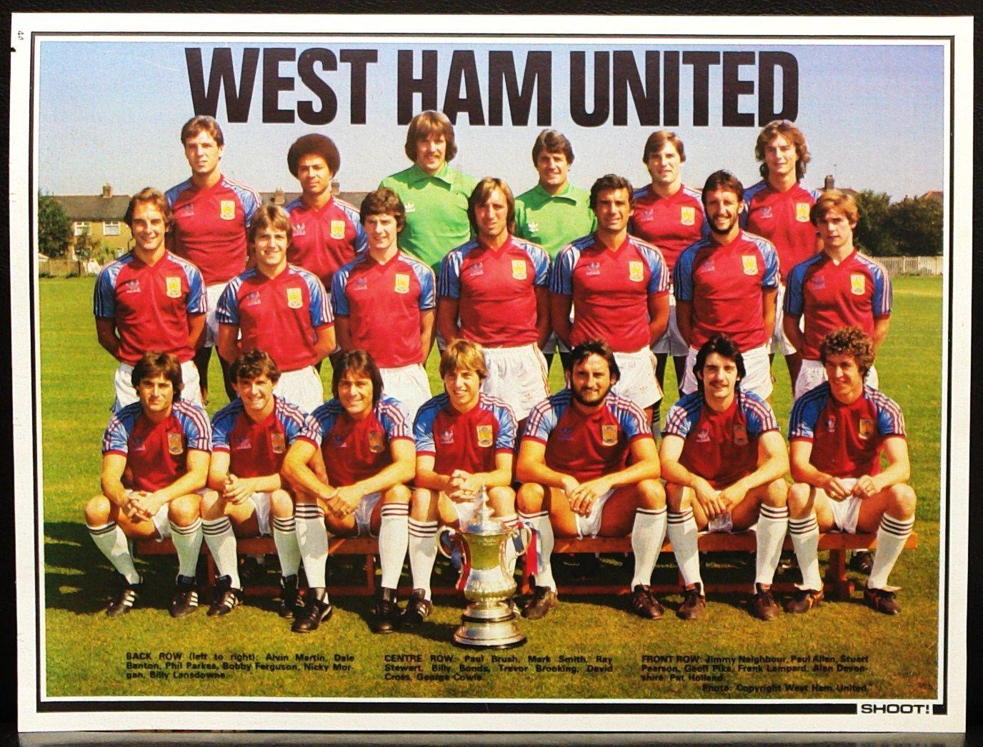 Football Team Picture West Ham United Shoot Ebay Football Team