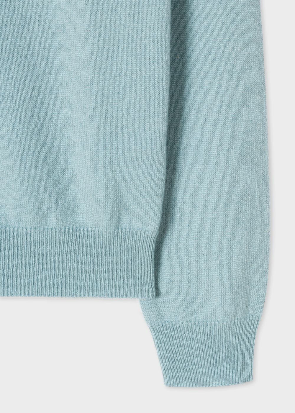 Womens Light Blue Cashmere Sweater With Textured Collar Pinterest