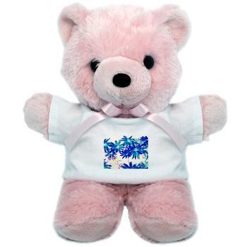 Blue flowers Teddy Bear