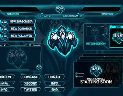 """Check out new work on my Behance profile """"Twitch overlay"""