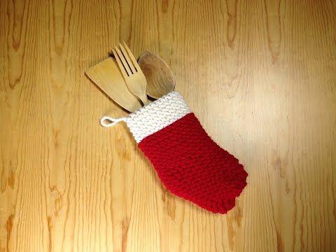 How to Loom Knit a Christmas Sock (DIY Tutorial) - YouTube