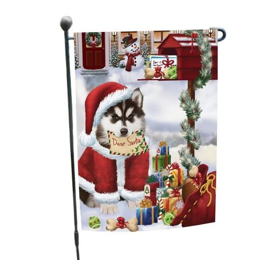 Siberian Huskies Dear Santa Letter Christmas Holiday