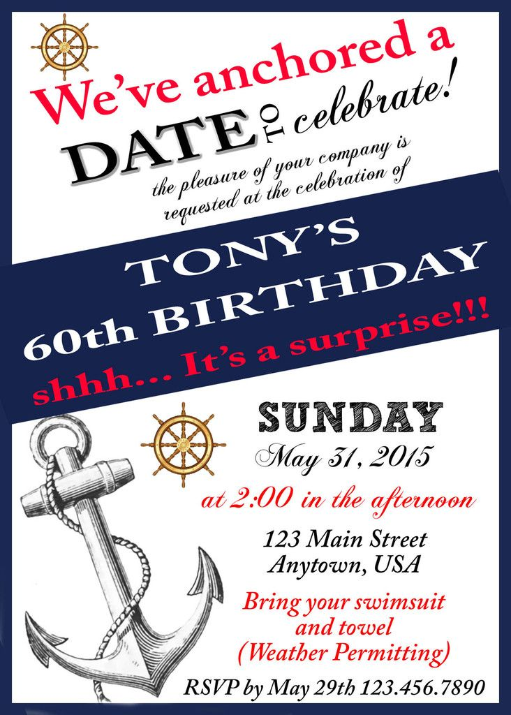 nautical birthday invitation in 2018 cruise party time pinterest