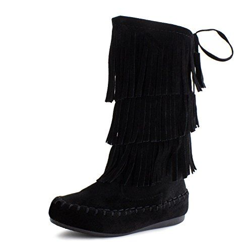 Link Candice-16K Girl's 3 Layer Fringe Moccasin Boots -- Read more reviews of the product by visiting the link on the image.