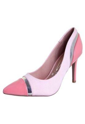 01a4e7af4 Scarpin Vizzano Recortes Tricolor Rosa - Compre Agora