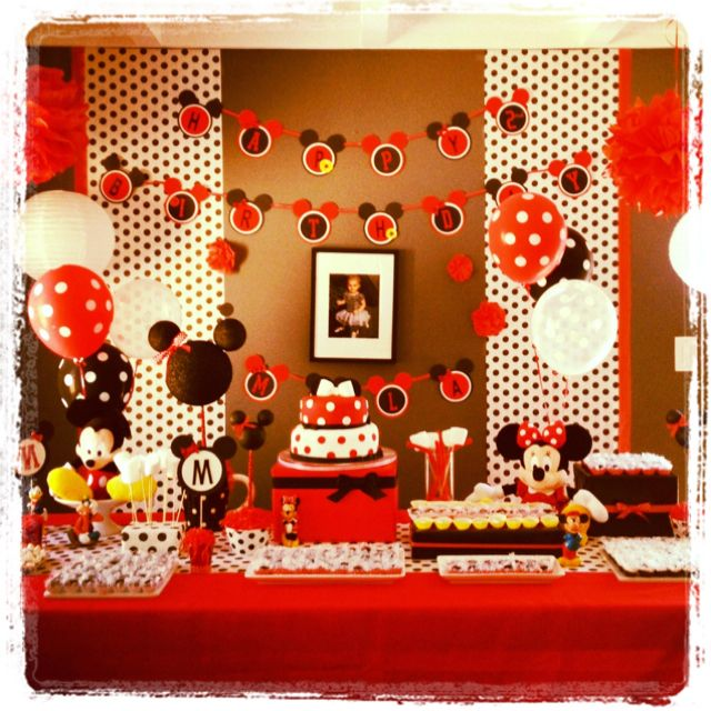 Mickey And Minnie Birthday Party Decoration Anniversaire Mickey