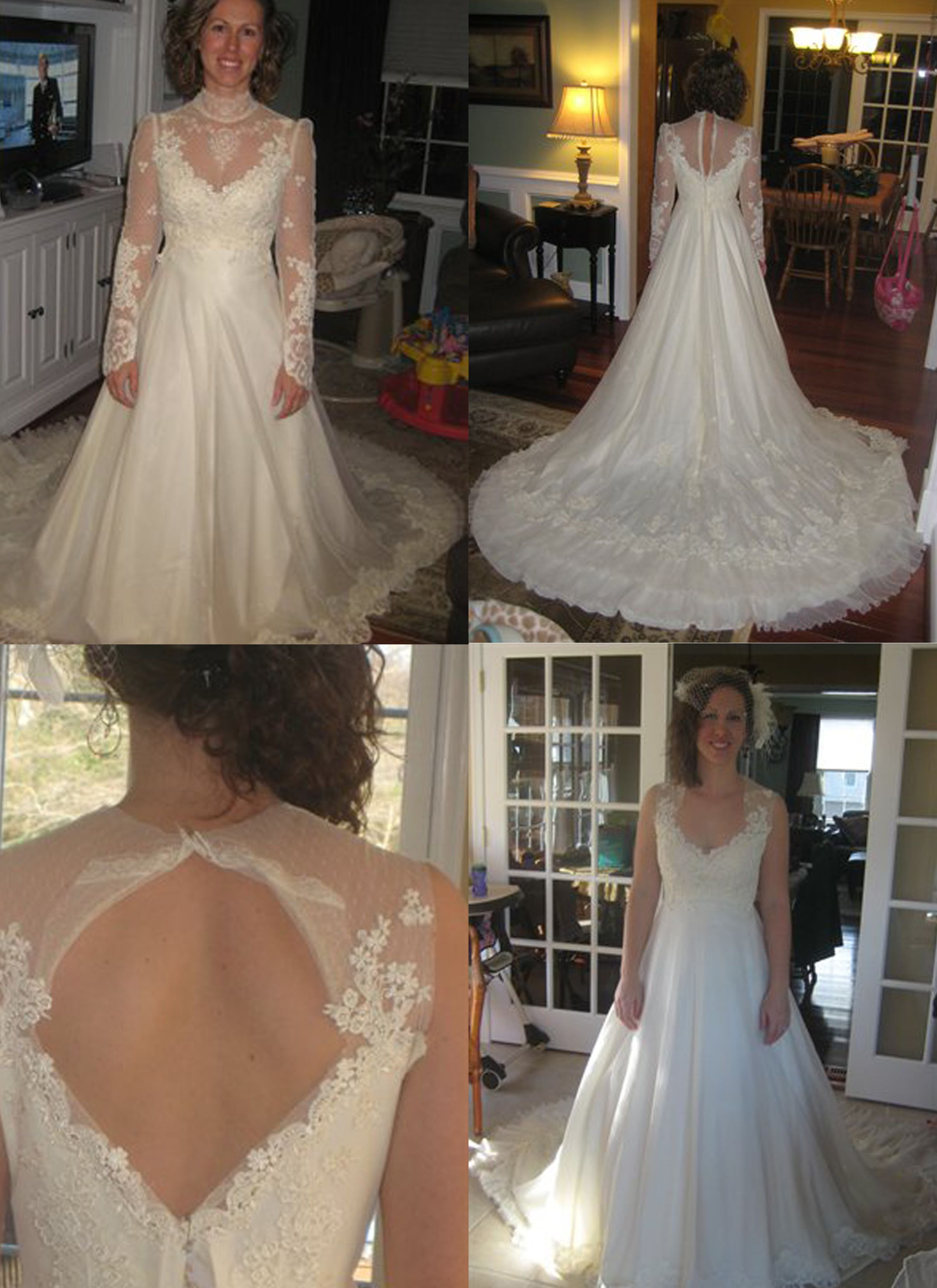 Wedding Dress Redo Old Wedding Dresses Wedding Dresses Vintage Mom Wedding Dress