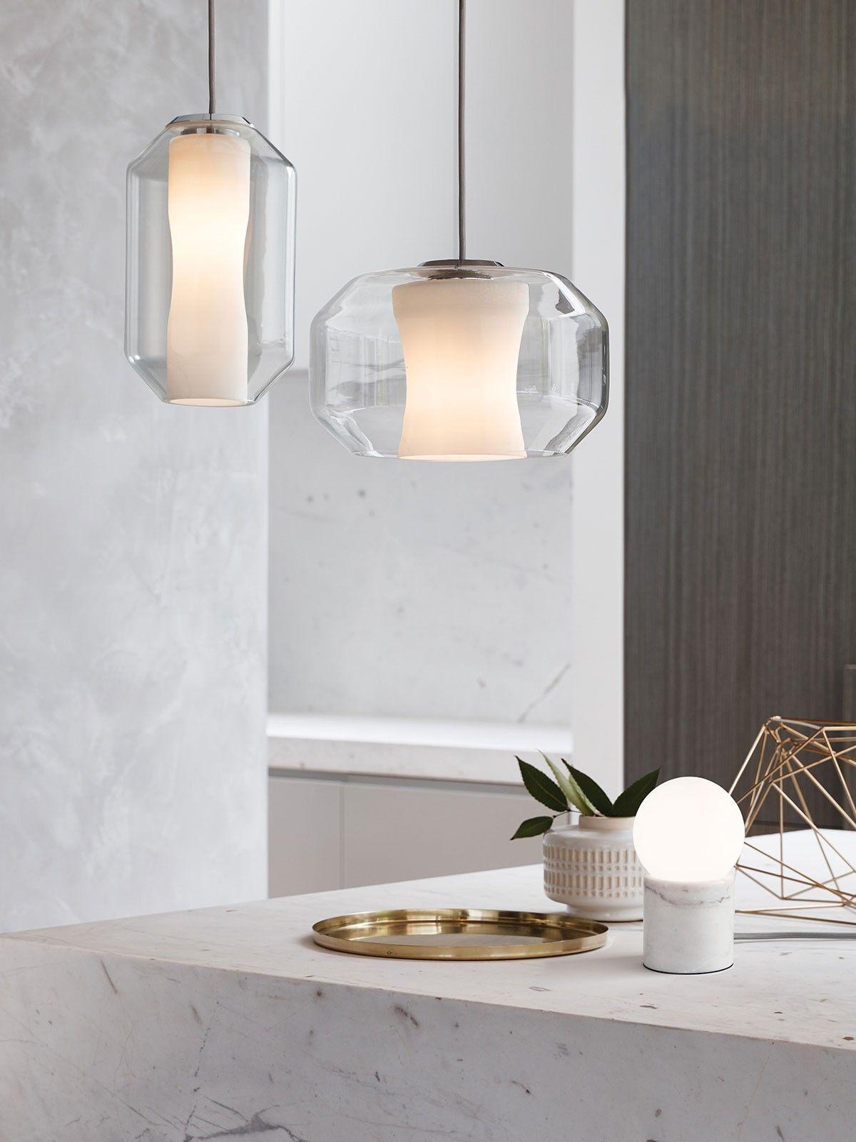 Callista Tall Pendant In Opal Chrome Beacon Lighting D150a