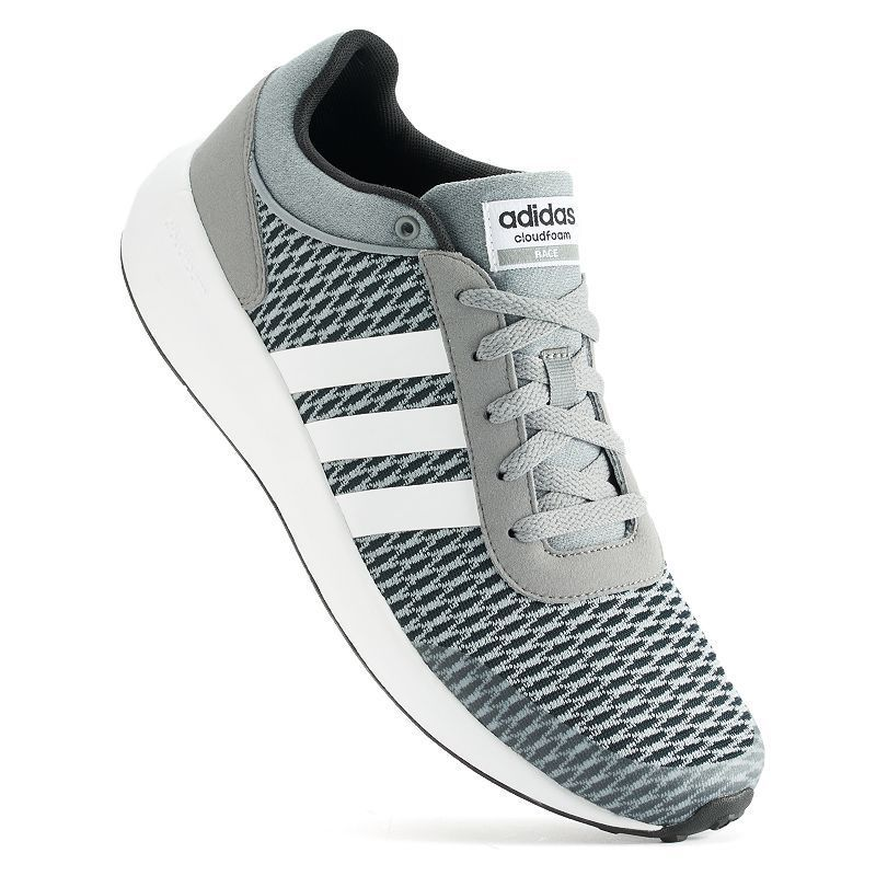 Adidas NEO Cloudfoam Race Men\u0027s Athletic Shoes, Size: 12, Black