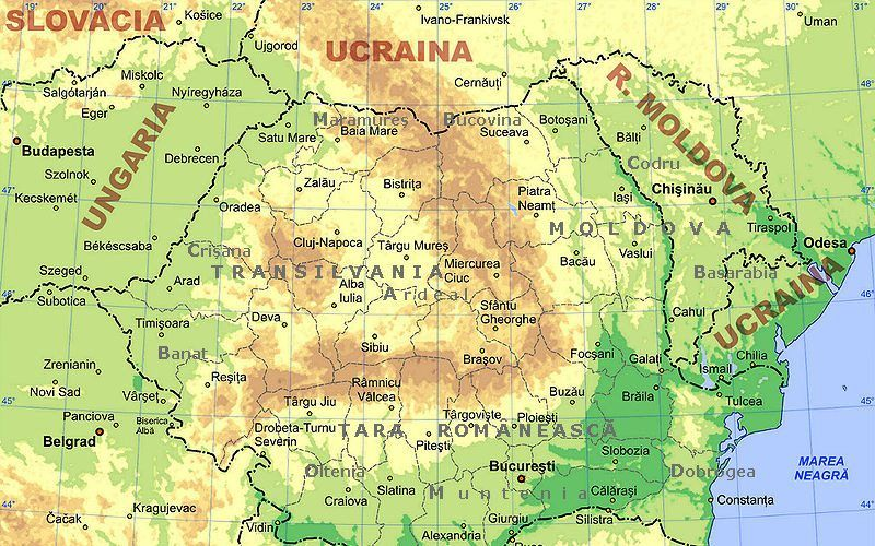 Pin by Doina Macovei on Romania | Romania map, Map, Romania