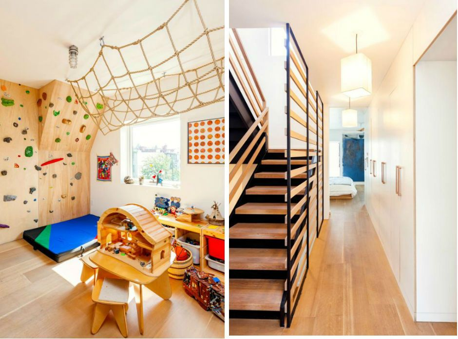 Totally Kids Totally Bedrooms: A Totally Modern Brooklyn Townhouse With A Rock Climbing