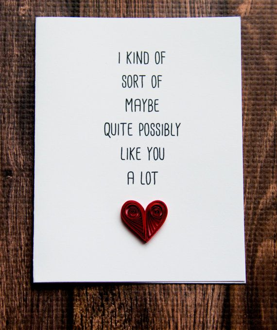 A cute valentines day card  love card to show your partner how