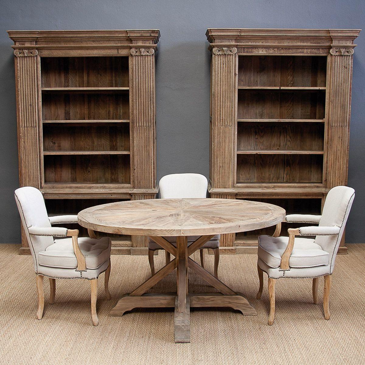 se 1233 24 op4 mesa redonda madera envejecida 150x150x78