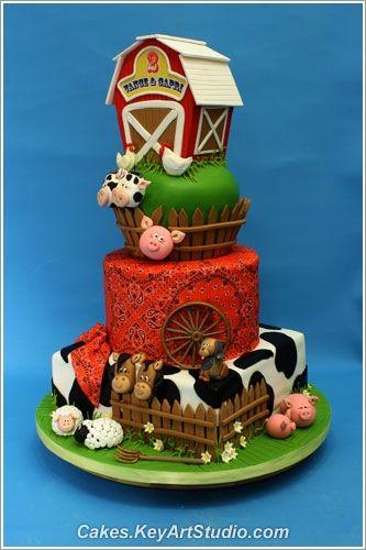 Farm Barn Cake. Everything edible.