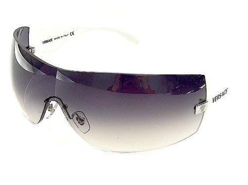 Versace 2054 10008g Graygradient/shinywhite Designer Sunglasses 6Gb9f