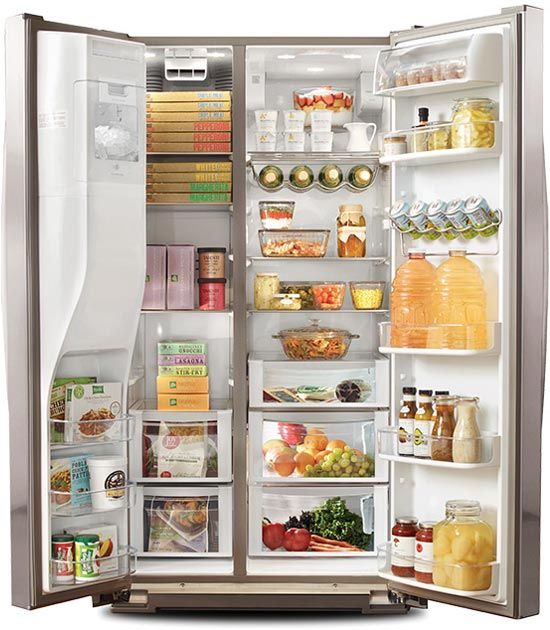 Side By Side Refrigerator Organization Ideas For The